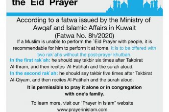 How to Pray Eid Al-Fitr at Home during the Lockdown?